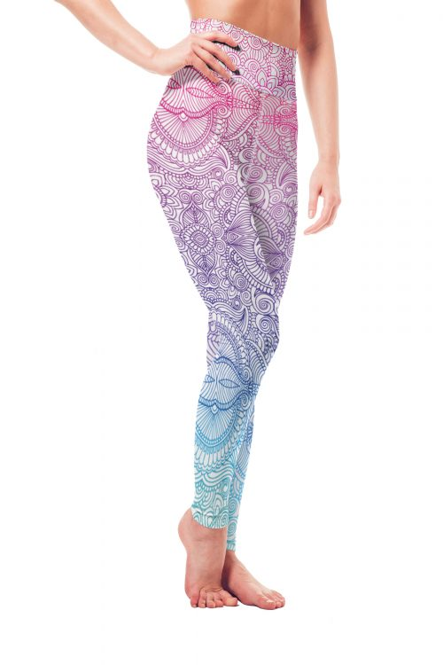 Vosenta Mandala Collection Yoga Leggings